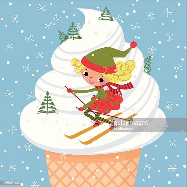 illustrations, cliparts, dessins animés et icônes de elfe et de skis - ski humour