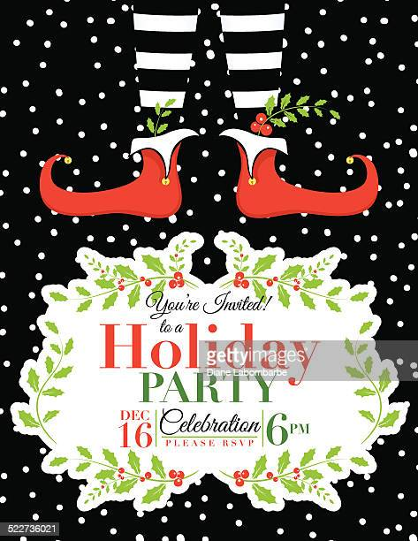 Elf Christmas Party Invitation Template