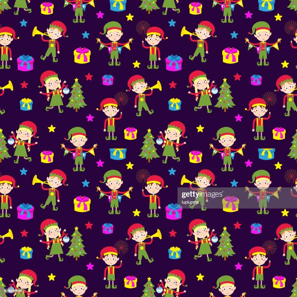 Elf helpers vector illustration : Vector Art