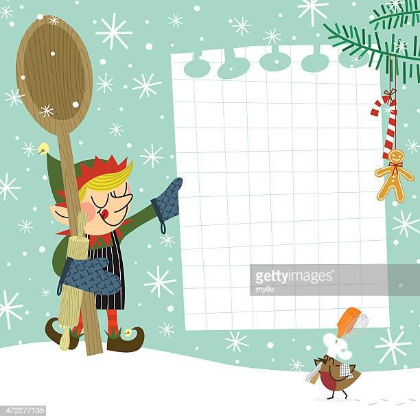 elf recipe - shopping list stock illustrations, clip art, cartoons, & icons