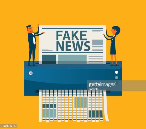 ilustrações, clipart, desenhos animados e ícones de eliminação - fake news - fake news