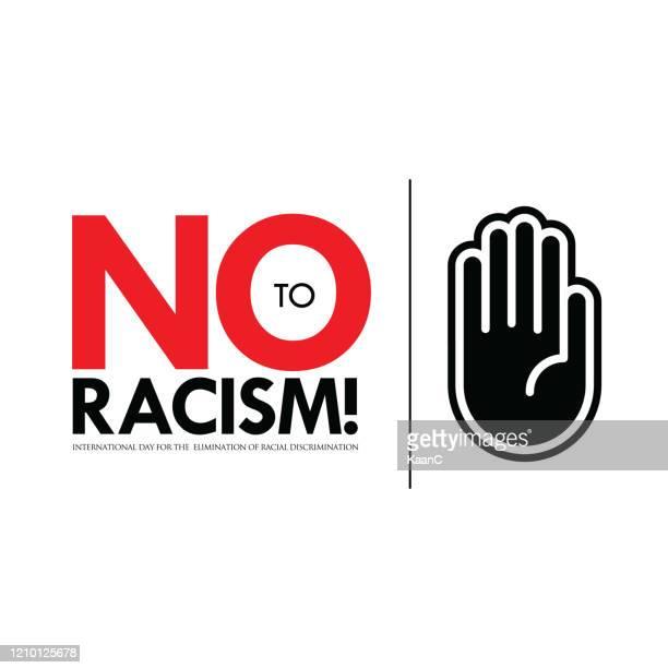 人種差別ストックイラストの撤廃、人種差別にノー - 偏見点のイラスト素材/クリップアート素材/マンガ素材/アイコン素材