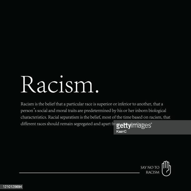人種差別ストックイラストの撤廃、人種差別にノー - 社会運動点のイラスト素材/クリップアート素材/マンガ素材/アイコン素材
