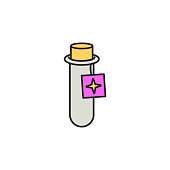 elixir in vitro icon. Element of magic icon for mobile concept and web apps. Color elixir in vitro icon can be used for web and mobile