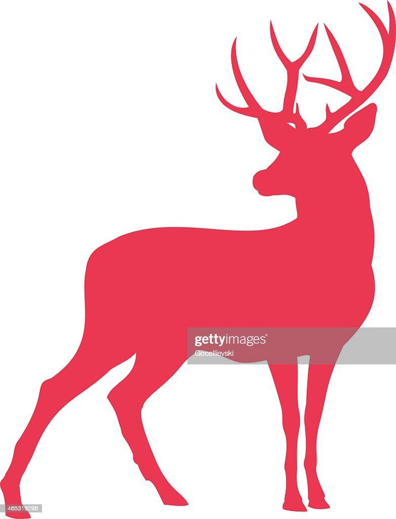 Elk Deer Silhouette - Illustration