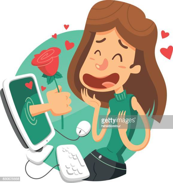 e-love - boyfriend stock illustrations, clip art, cartoons, & icons