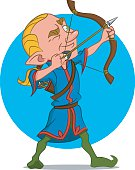elven archer. эльфийский лучник.