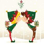 elves kissing
