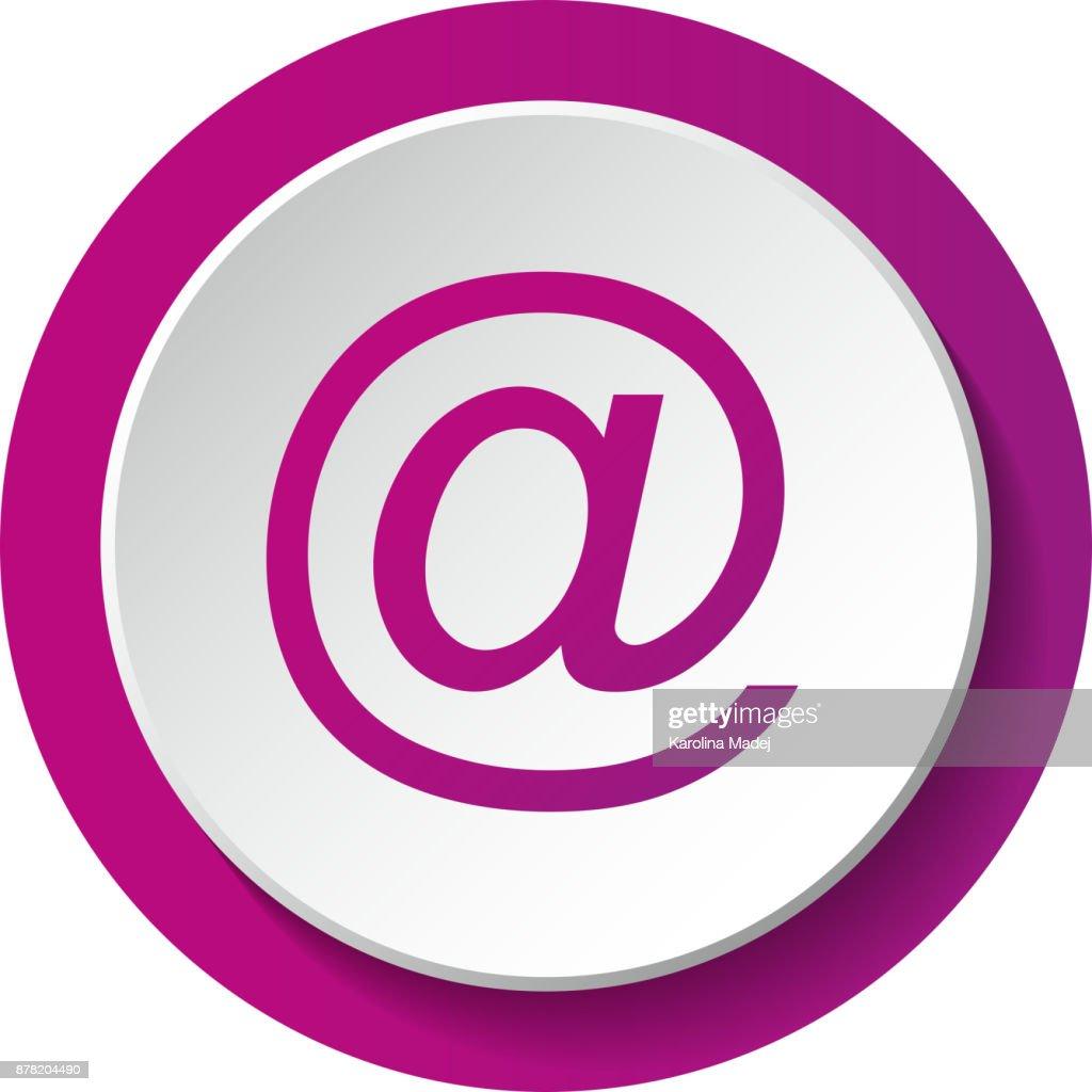 Email Address Symbol Concept Of A 3d Button Vector Vector Art