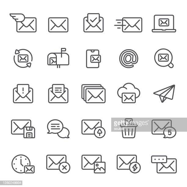 email and messaging icons - e mail spam stock illustrations