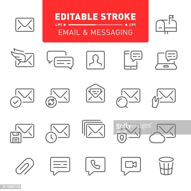 電子メールとメッセージングのアイコン - 迷惑メール点のイラスト素材/クリップアート素材/マンガ素材/アイコン素材