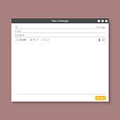 E-mail Blank Template Concept. Vector