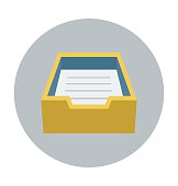 Email Box Colored Vector Illustration