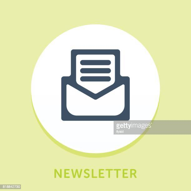 email curve icon - newsletter stock illustrations