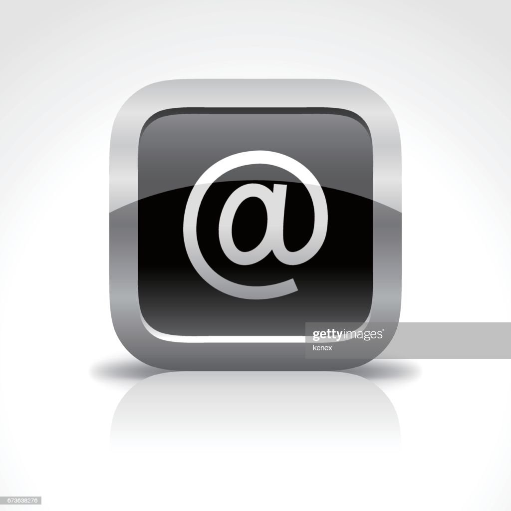Email Glossy Button Icon