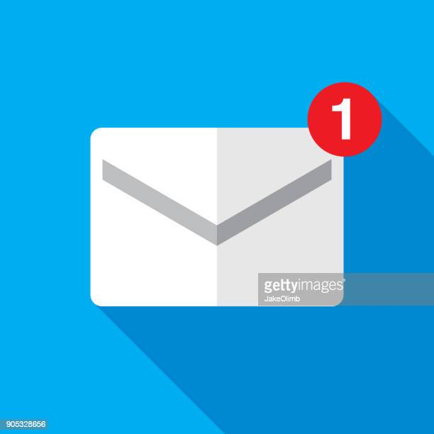 email icon flat - e mail inbox stock illustrations