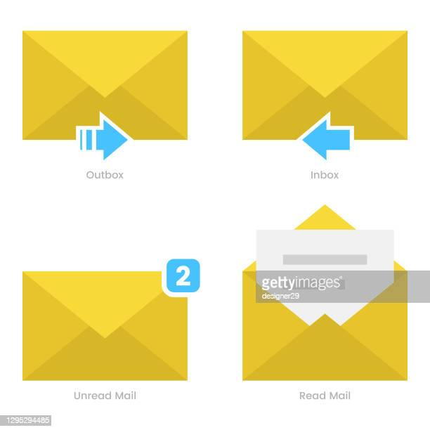 電子メールアイコンセットベクトルデザイン。 - 通知アイコン点のイラスト素材/クリップアート素材/マンガ素材/アイコン素材