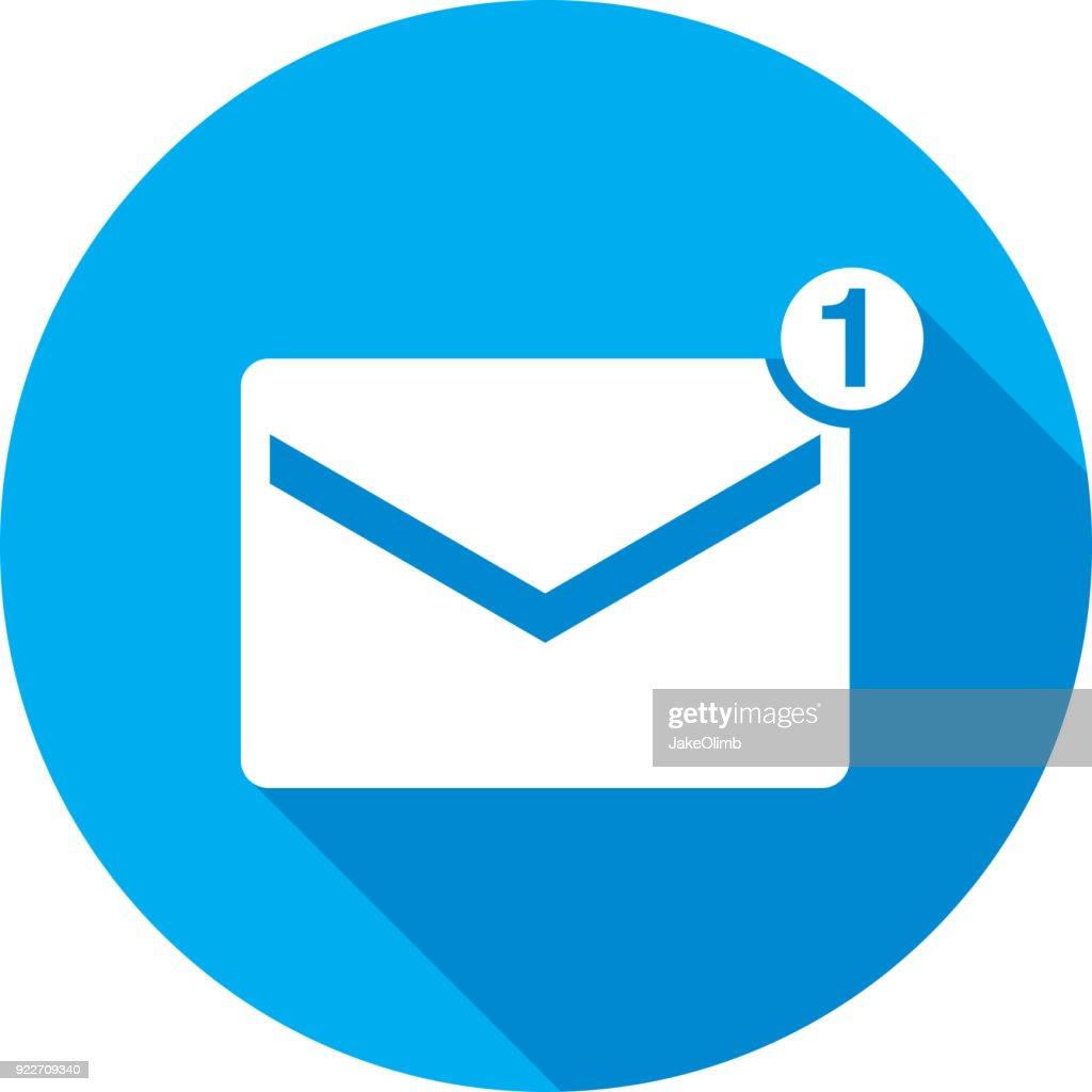 E-Mail Symbol Silhouette : Stock-Illustration