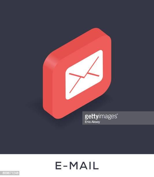 stockillustraties, clipart, cartoons en iconen met e-mailpictogram - e mail
