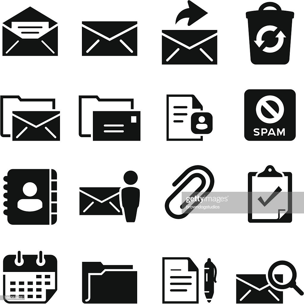 Email Icons - Black Series