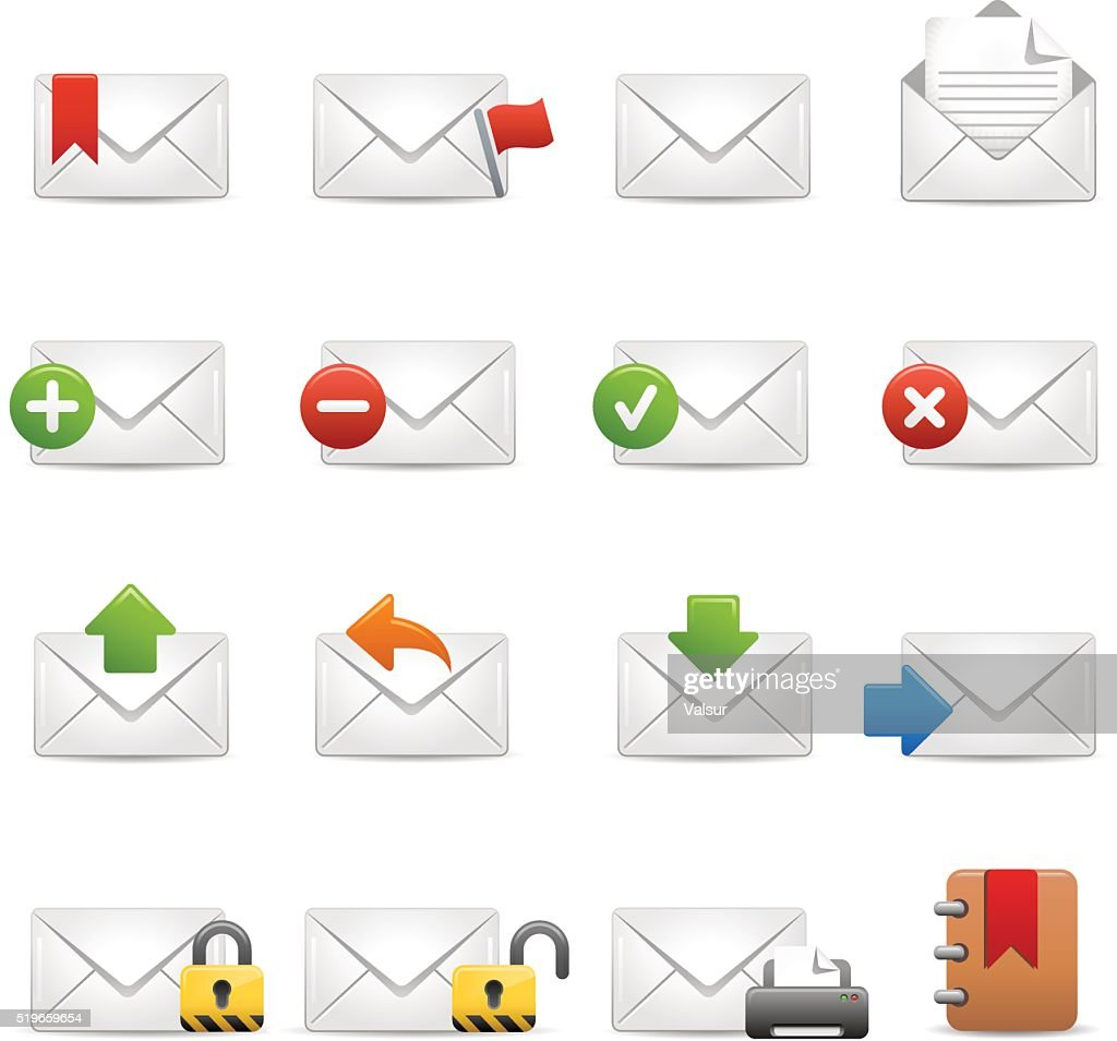 e-mail Icons Set 2 of 3 - Soft Series