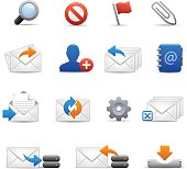 e-mail Icons Set 3 of 3 - Soft Series