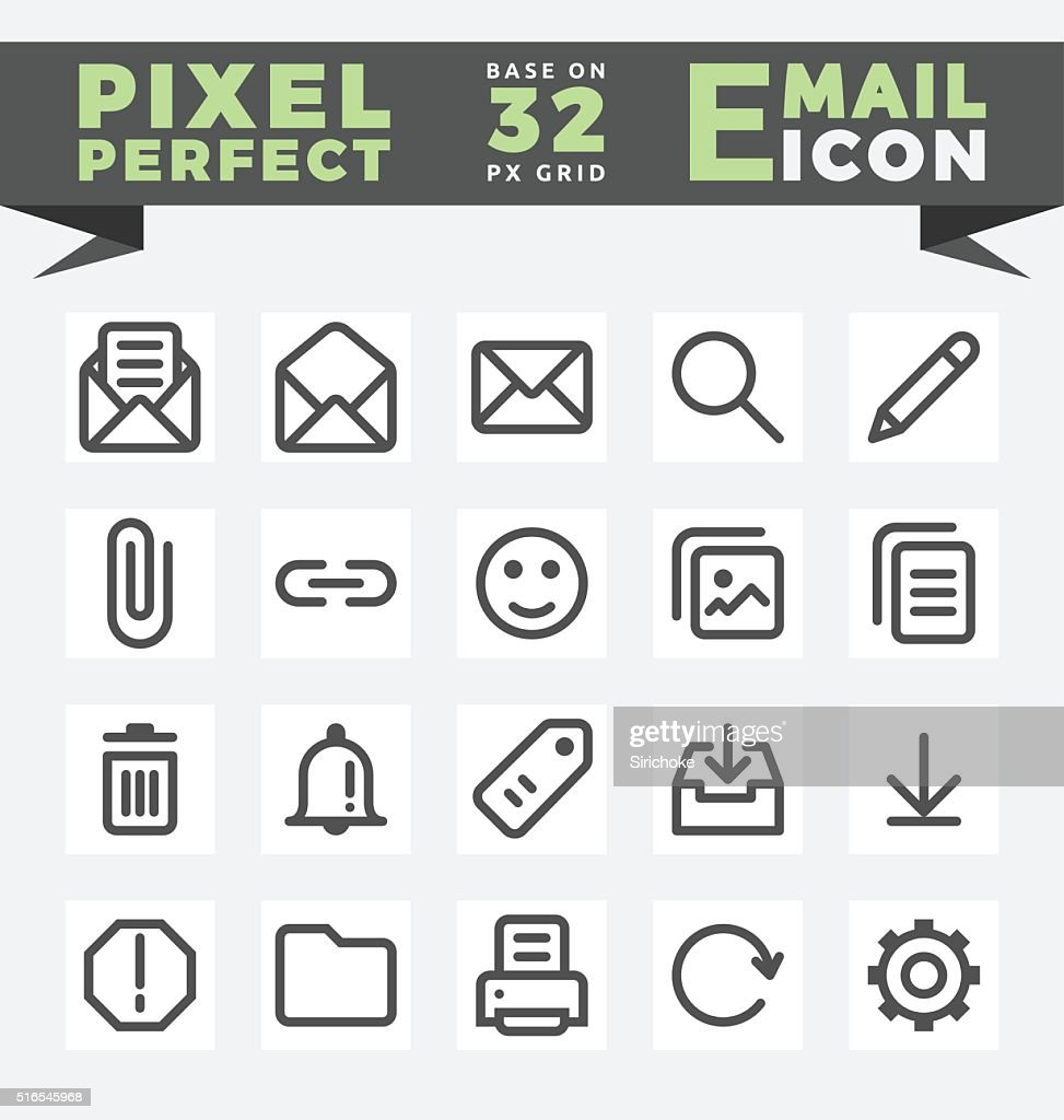 E-Mail icons set for user interface design