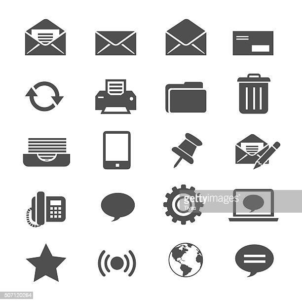 email icons - printout stock illustrations
