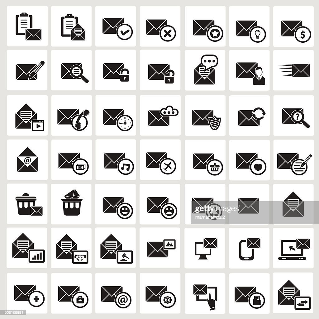 Email icons,White background version,vector