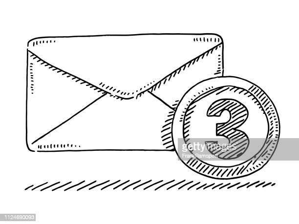 E-Mail-Posteingang-Symbol Briefumschlag Zeichnung
