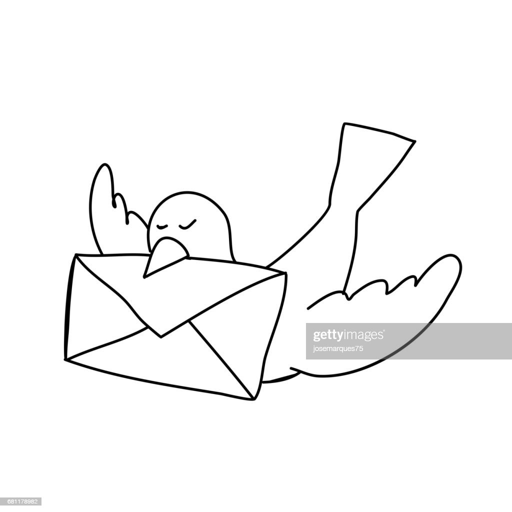 Email, laptop and hand holding letter
