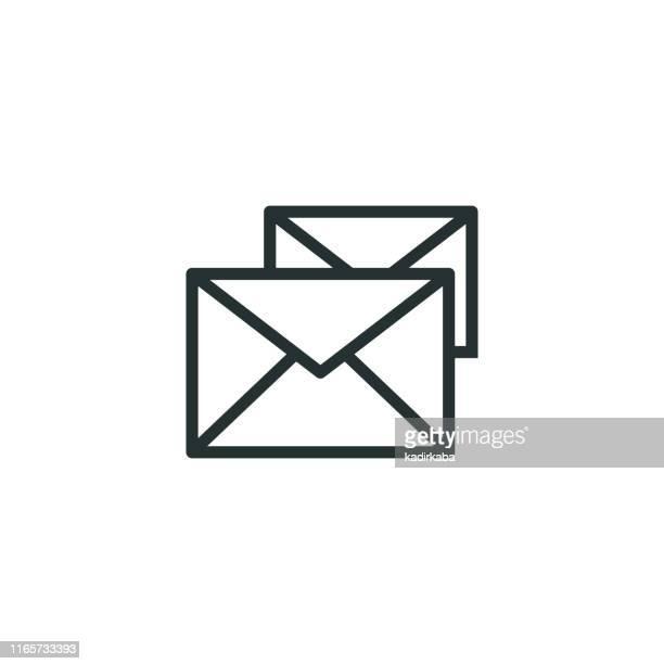 電子メール行アイコン - 迷惑メール点のイラスト素材/クリップアート素材/マンガ素材/アイコン素材
