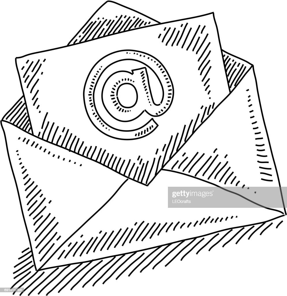 e-mail Marketing Concept Drawing