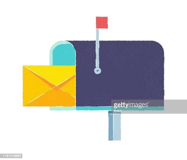 stockillustraties, clipart, cartoons en iconen met e-mail marketing plat doodle pictogram ontwerp - e mail