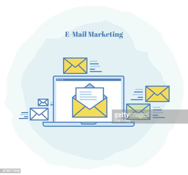 e-mail marketing icon - e mail stock illustrations
