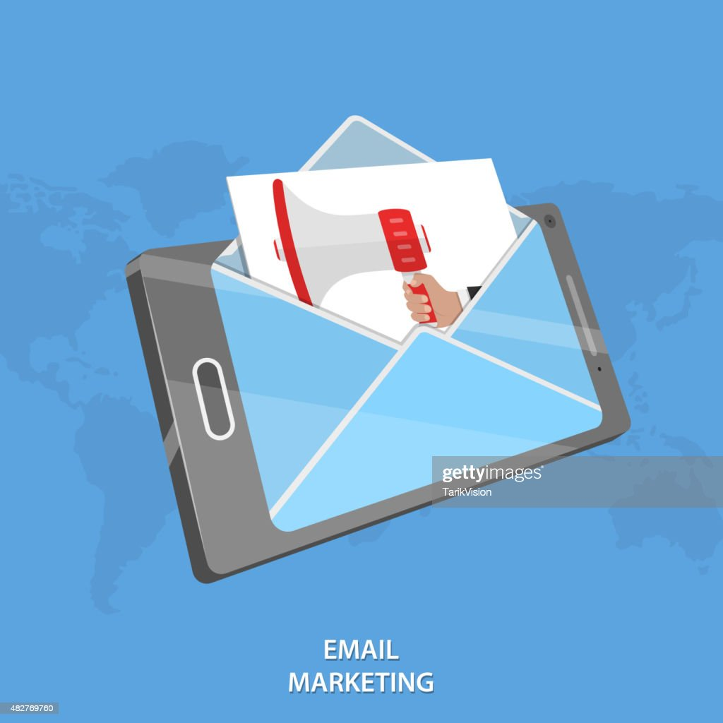 Email marketing vector conceptual illustration.