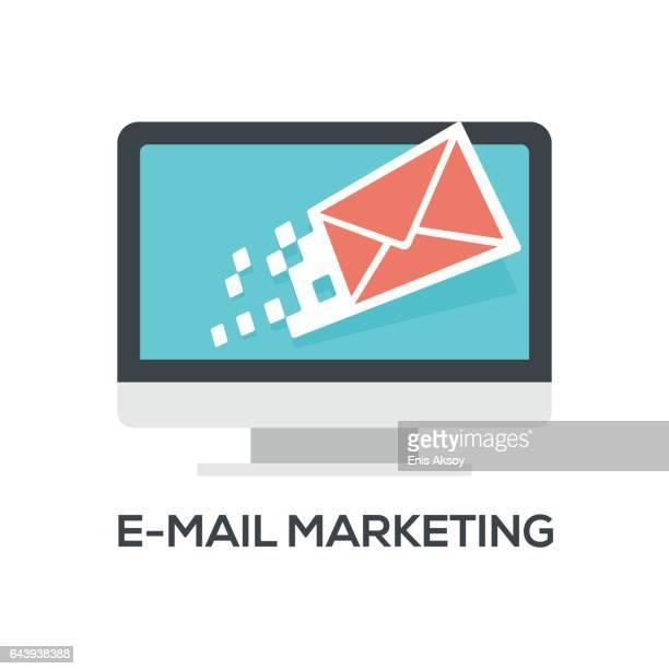 ilustrações, clipart, desenhos animados e ícones de e-mail marketing  - correio correspondência
