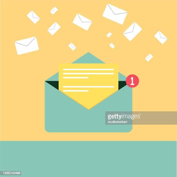 stockillustraties, clipart, cartoons en iconen met e-mail message - e mail
