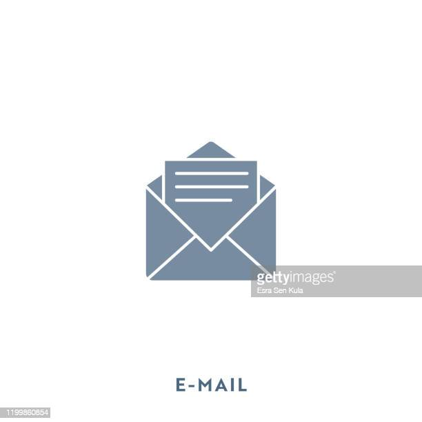 e-mail mono color flat icon. pixel perfect. - newsletter stock illustrations