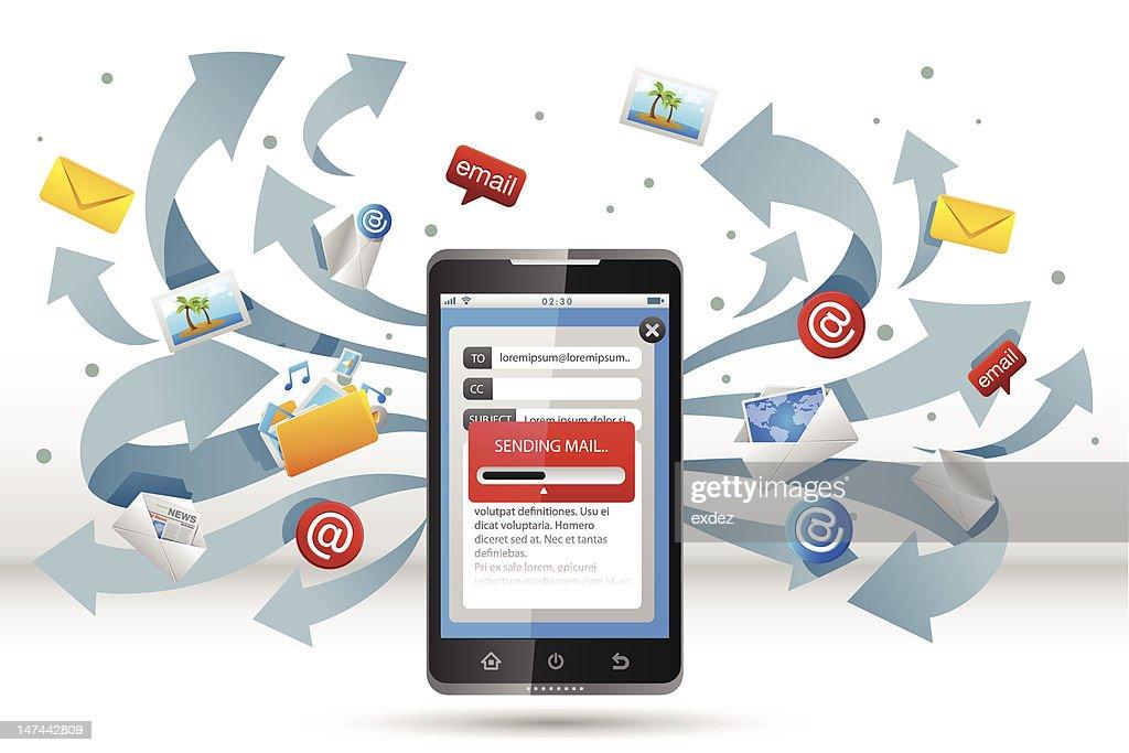 Email on Smart Phone : Vektorgrafik