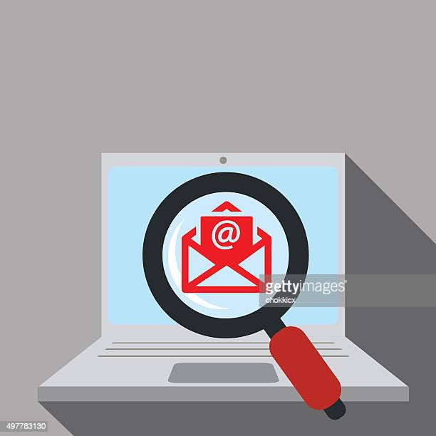 email or online newsletter search - newsletter stock illustrations