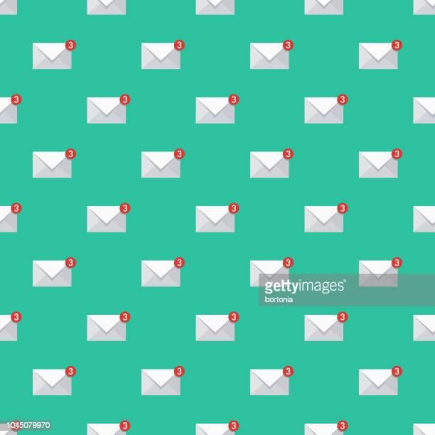 illustrations, cliparts, dessins animés et icônes de courriel seo seamless pattern - messagerie électronique