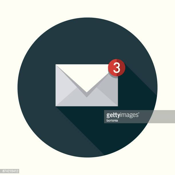メール ソーシャル メディア フラットなデザイン アイコン側の影 - 通知アイコン点のイラスト素材/クリップアート素材/マンガ素材/アイコン素材