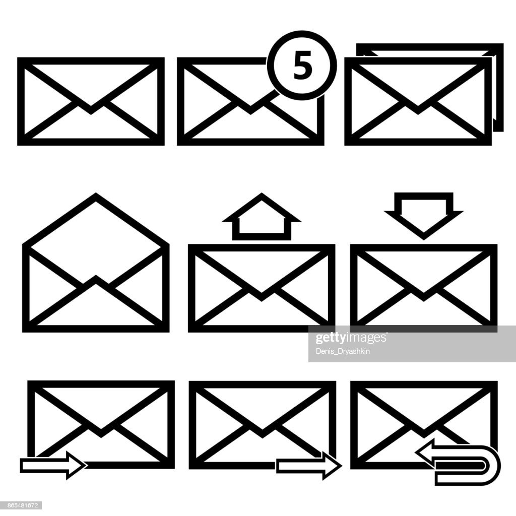 Email Symbol Letter Icon Vector Vector Art Getty Images