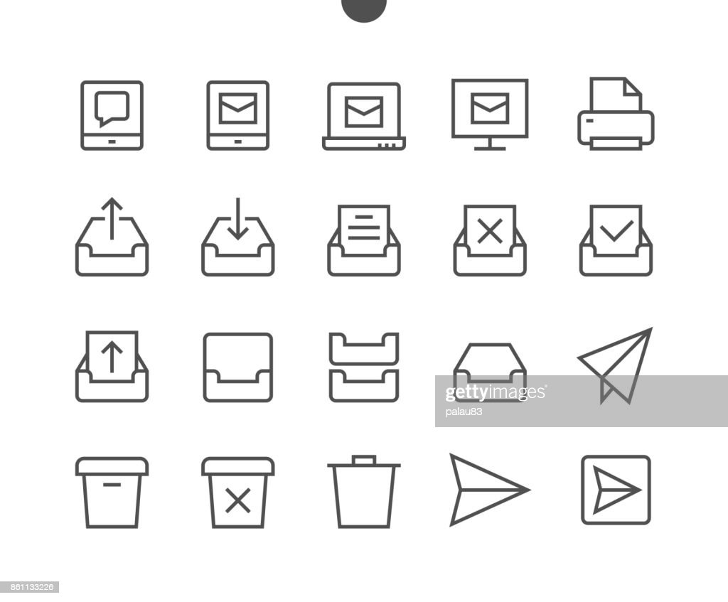 Email UI Pixel Perfect Well-crafted Vector Thin Line Icons 48x48 Ready for 24x24 Grid for Web Graphics and Apps with Editable Stroke. Simple Minimal Pictogram