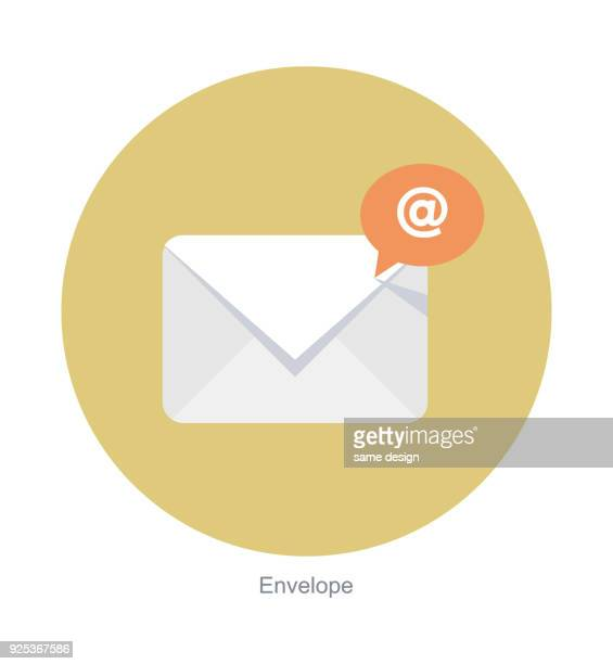 email vector flat icon - e mail inbox stock illustrations