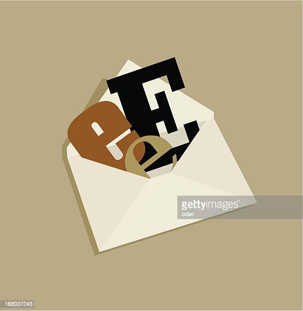 stockillustraties, clipart, cartoons en iconen met email - e mail