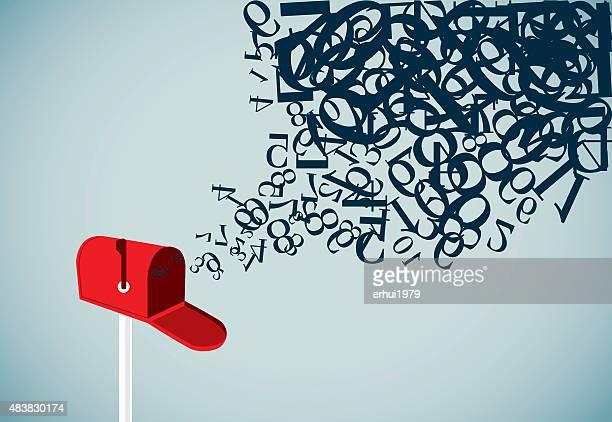 e メール - 発送書類入れ点のイラスト素材/クリップアート素材/マンガ素材/アイコン素材