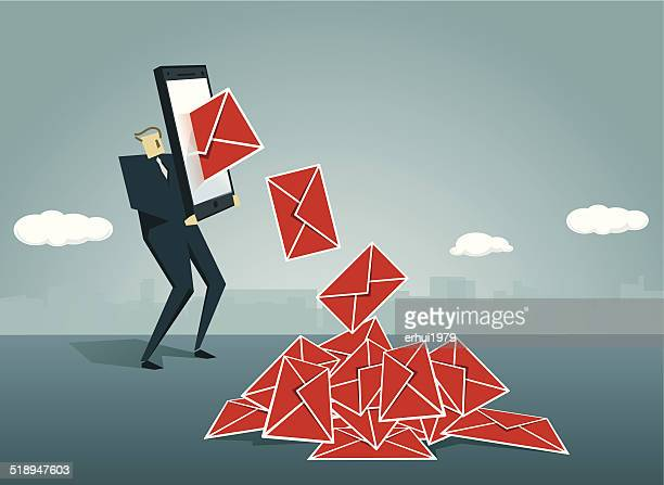 email - e mail spam stock illustrations