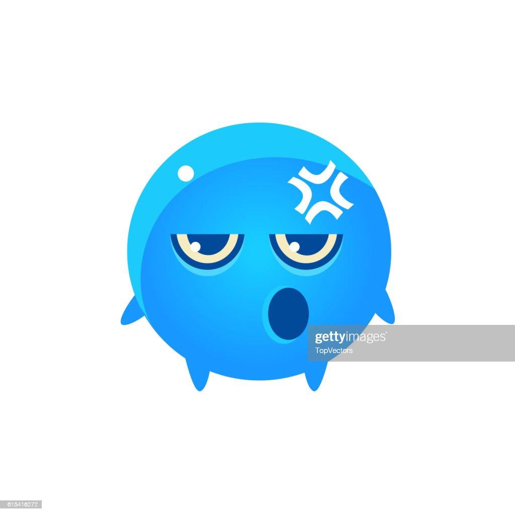 Embarrassed Round Character Emoji